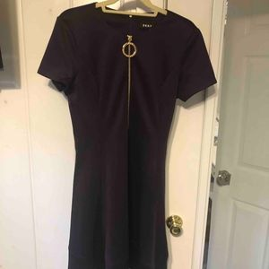 NWOT  DKNY Fit and Flare Scuba dress - Plum sz 12